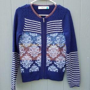 Anthro Sparrow Full Zip Cardigan Sweater